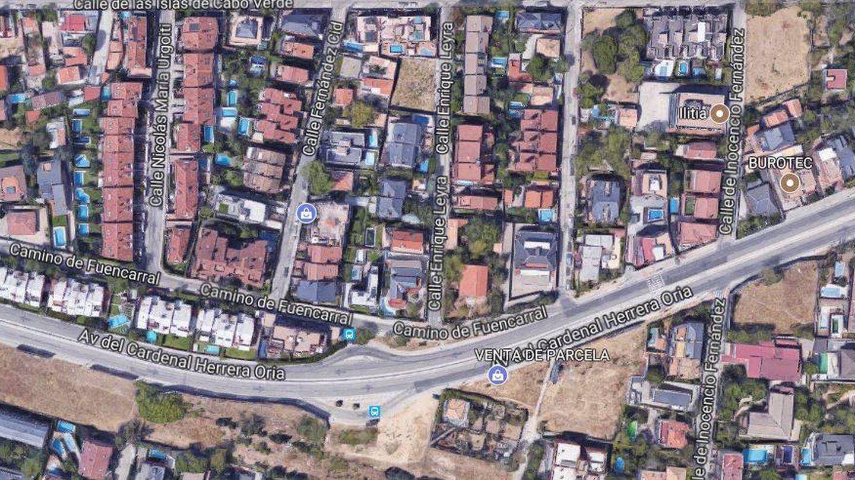Vista aérea de la casa de Teresa Viejo en Madrid.