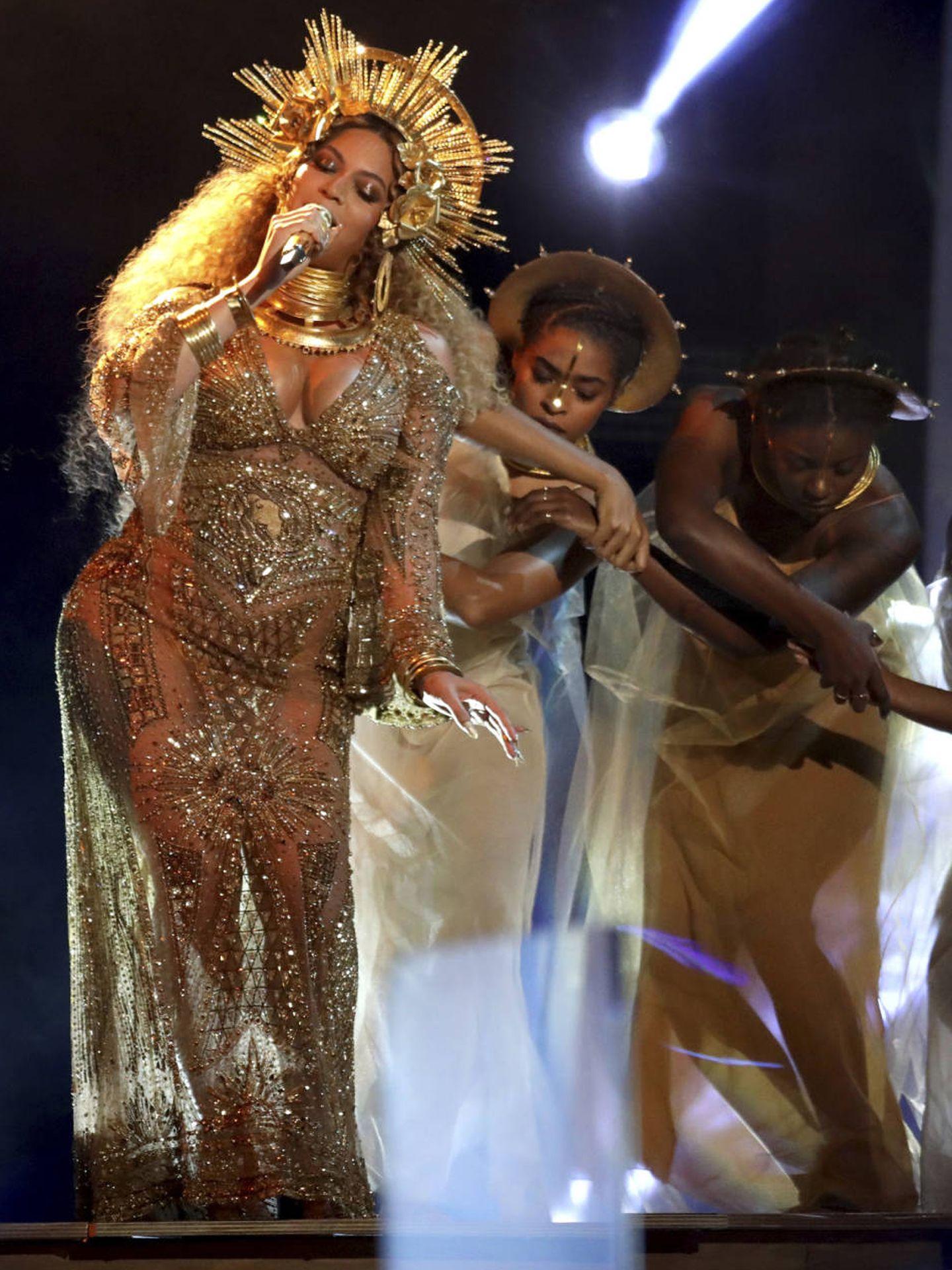 Beyoncé en una imagen de archivo en los Grammy (Gtres)