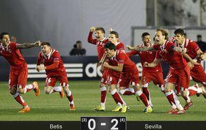 El Betis tiró el pase desde los once metros y propició la gesta del Sevilla