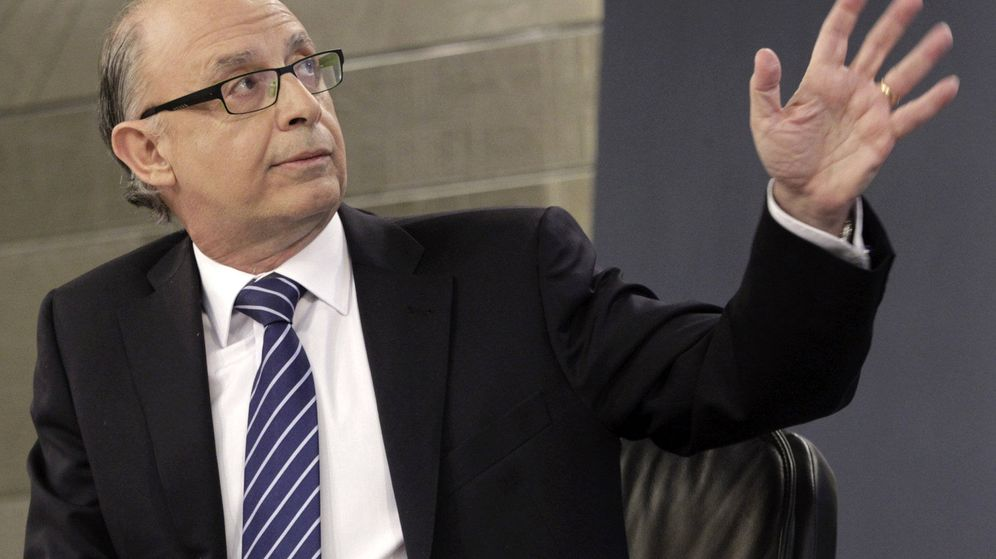 Foto: El ministro Cristóbal Montoro, en una rueda de prensa posterior al Consejo de Ministros. (EFE)