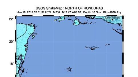 Un terremoto de magnitud 7,6 sacude Honduras y la región del Caribe