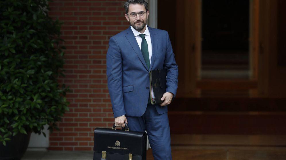 Foto:  Máxim Huerta, con su cartera como flamante ministro. (Gtres)