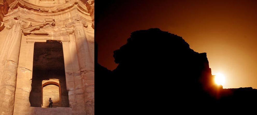 Foto: Cabeza de león vista desde el Monasterio de Petra. (J. A. Belmonte-A. C. González-García)
