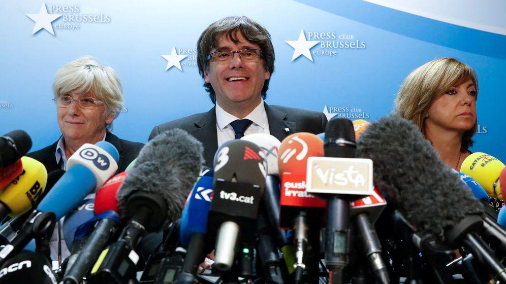 Foto: Carles Puigdemont, durante su comparecencia en el Press Club Brussels. (Reuters)