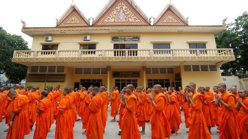 Celebración de monjes budistas