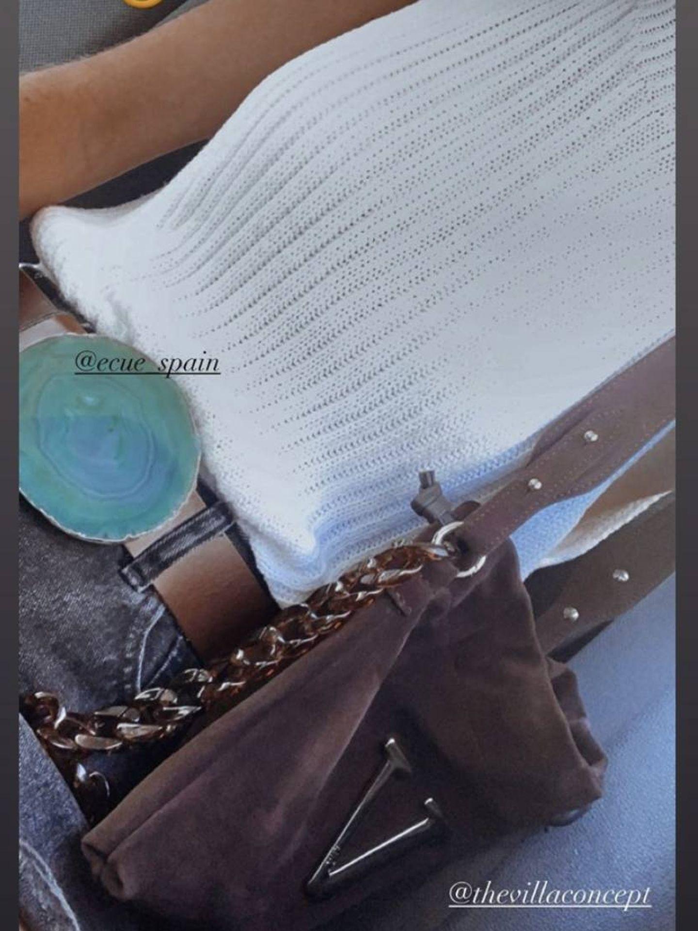 Victoria Federica, con el bolso en cuestión. (Redes)