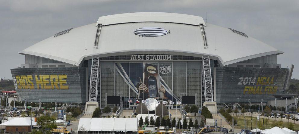 Foto: Vista general del AT&T Stadium de Arlington, sede de la Final Four de la NCAA 2014. (Efe)
