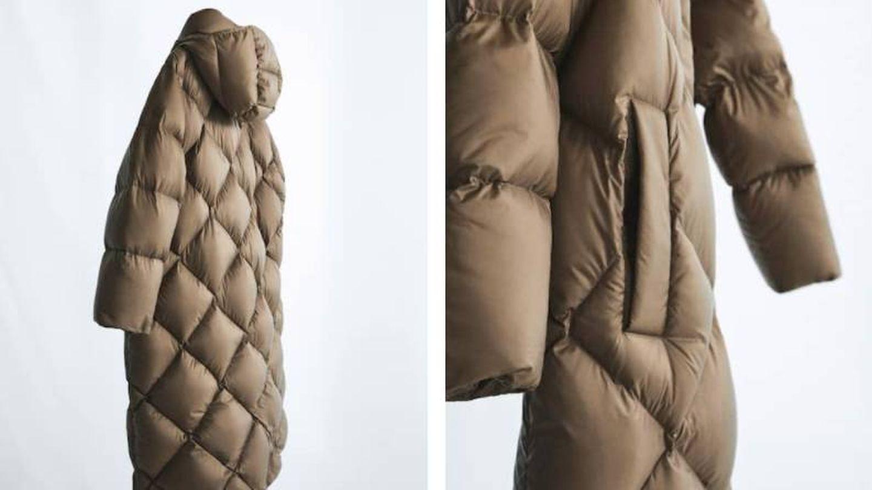 Abrigo de plumas de Massimo Dutti. (Cortesía)