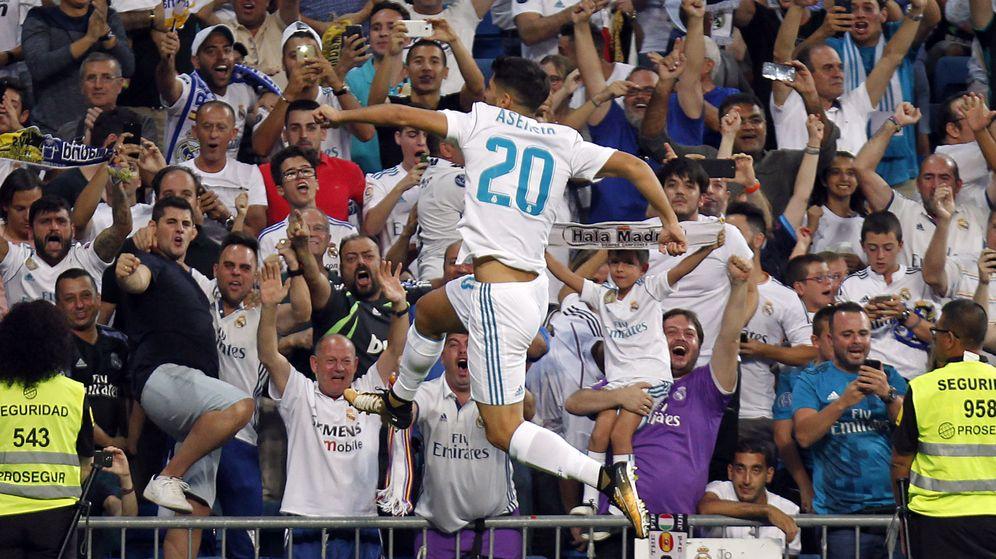 Foto: Marco Asensio celebra el 1-0 en la vuelta de la Supercopa de España. (Cordon Press)