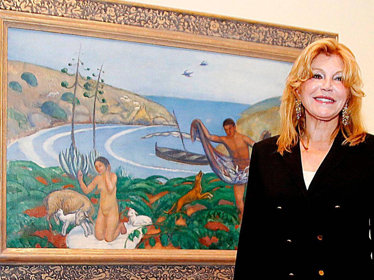 Foto: La baronesa Thyssen, en el Museo. (Getty)