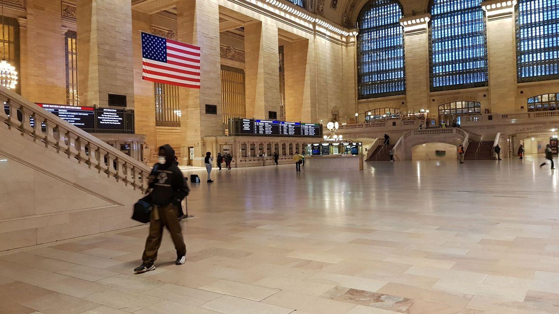 Estación Grand Central de Nueva York, casi vacía debido a la alarma sanitaria. (EFE)