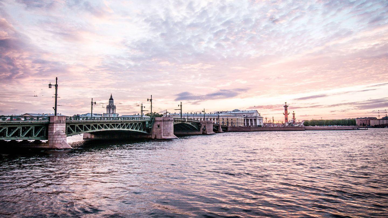 El río Nevá, en San Petersburgo, donde lanzaron el cuerpo de Rasputín.
