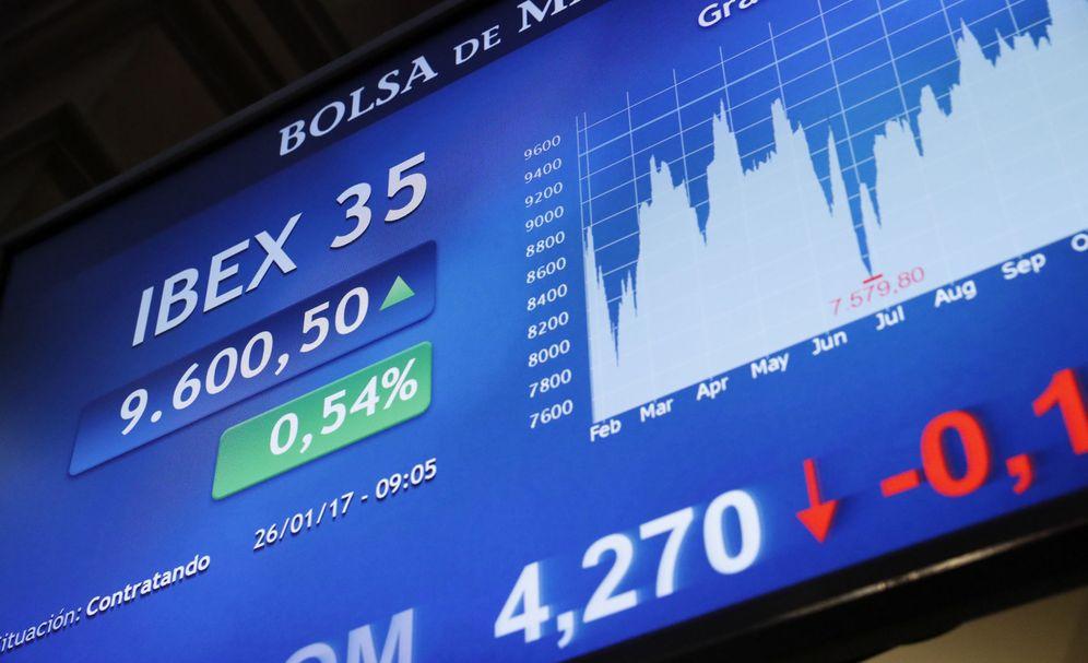 Foto: Panel del Ibex 35 en la Bolsa de Madrid (EFE/Zipi)