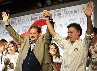 Foto: Santos y Mockus se disputarán la presidencia de Colombia en una segunda vuelta