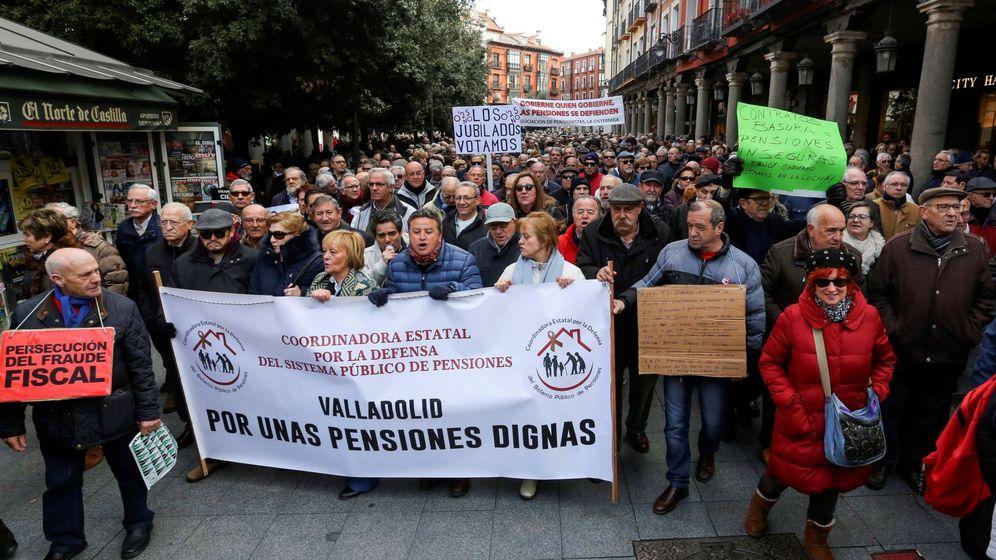 Foto: Manifestación de pensionistas en Madrid. (EFE)