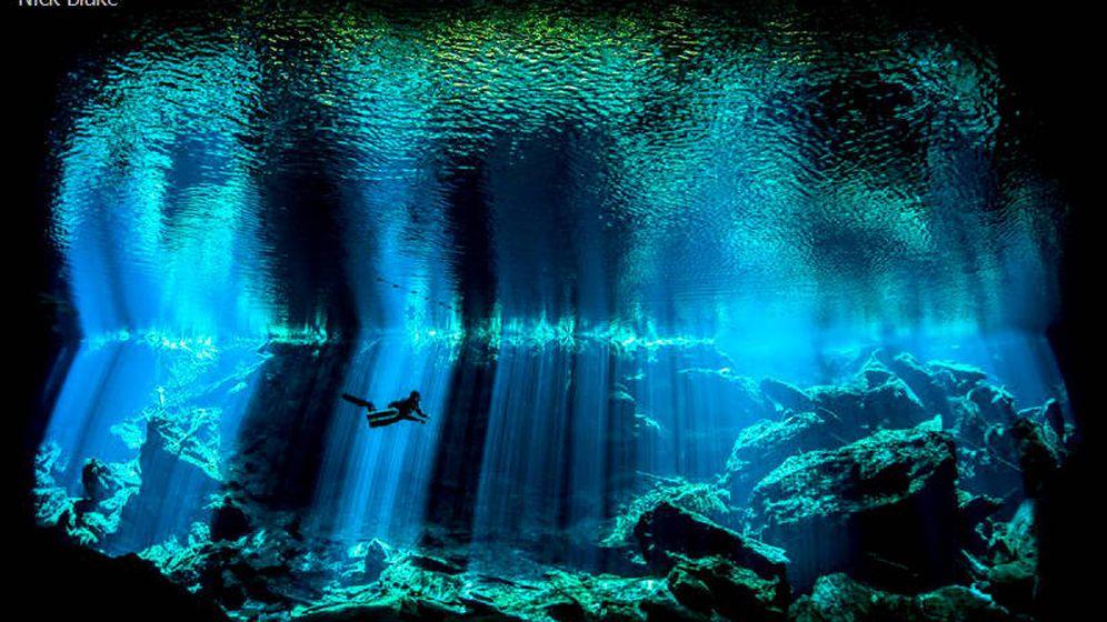 Foto: Buzo en el fondo del mar  (Nick Blake, Reino Unido)