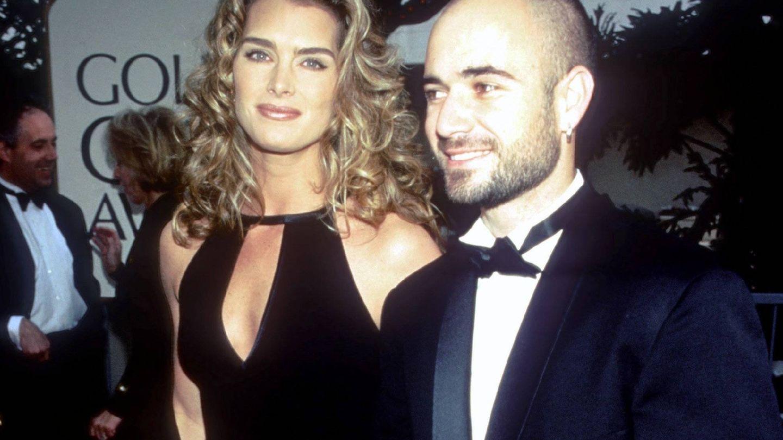Brooke Shields y Andre Agassi, en los años 90. (CP)