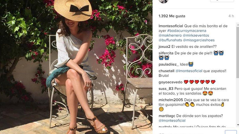 Lourdes Montes de boda. (Instagram)