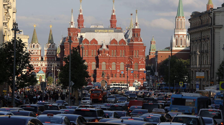 El tráfico en Moscú. (EFE)