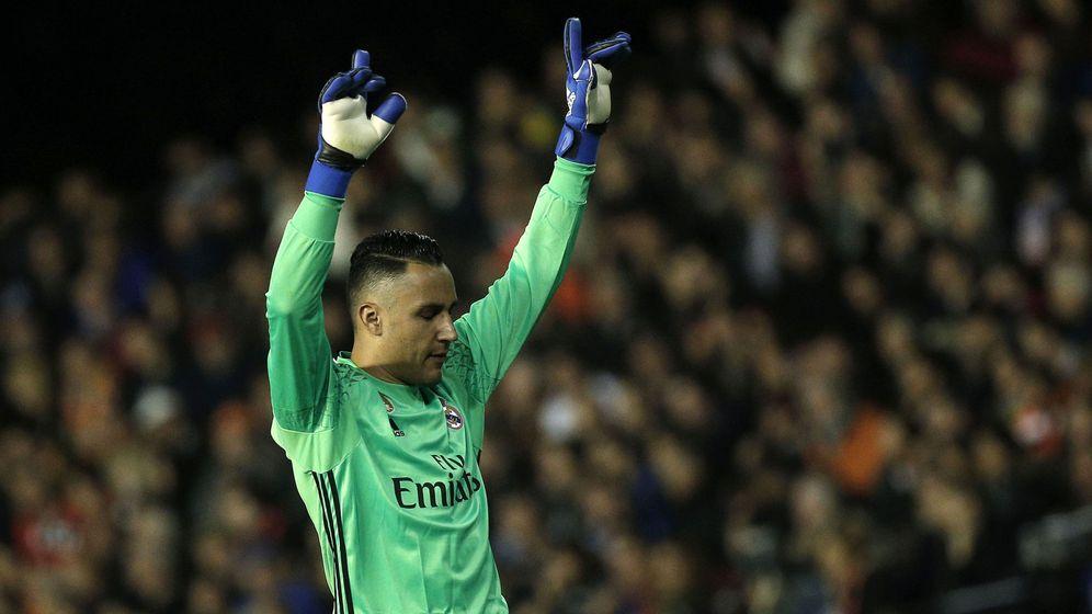 Foto: Keylor Navas, durante un partido del Real Madrid. (EFE)