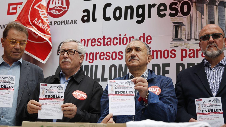 Los sindicatos reclaman una renta mínima garantizada por ley