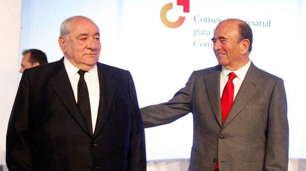 Foto:  Isidoro Álvarez (i) y Emilio Botín. (Fuente: Consejo Empresarial para la competencia)