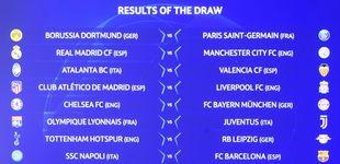 Post de Así ha quedado el sorteo de Champions: Madrid y Atleti, contra los 'cocos' ingleses