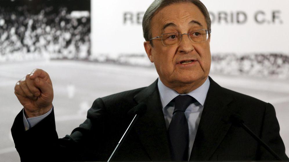 Foto: Florentino vuelve a dar la cara pocos días después de hacerlo por la goleada del Clásico (Reuters).