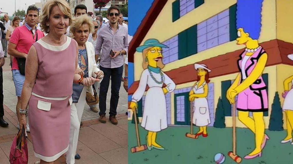 Esperanza Aguirre convertida en una Marge Simpson pija y otros looks para ir a los toros
