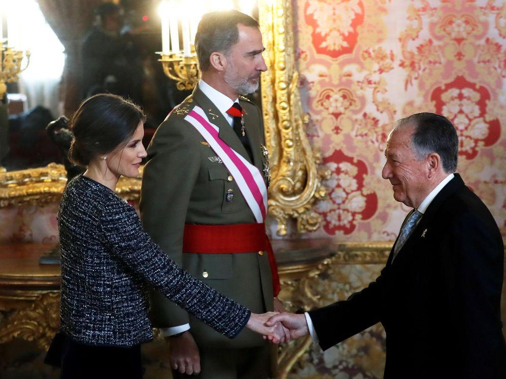 Foto: Felix Sanz Roldán en una visita al Palacio Real.