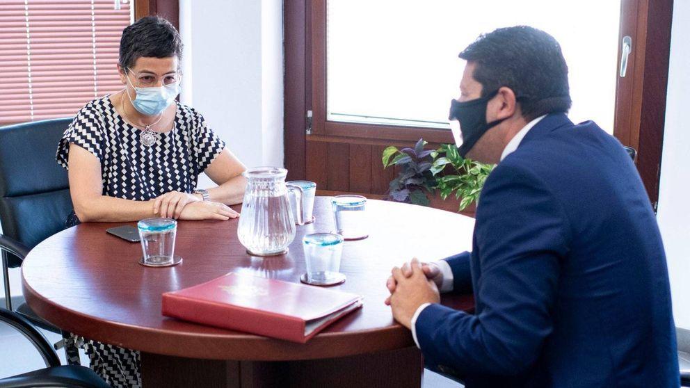Laya, primera titular de Exteriores que se deja ver con el ministro de Gibraltar