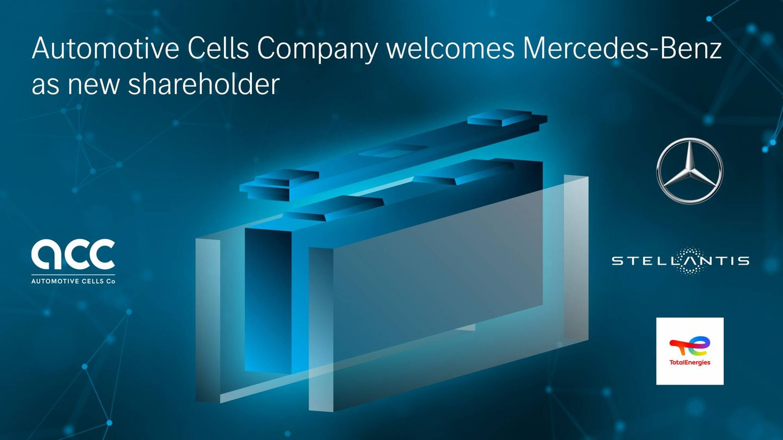 Mercedes-Benz, Stellantis y TotalEnergies se convierten en los tres accionistas de Automotive Cells Company (ACC).