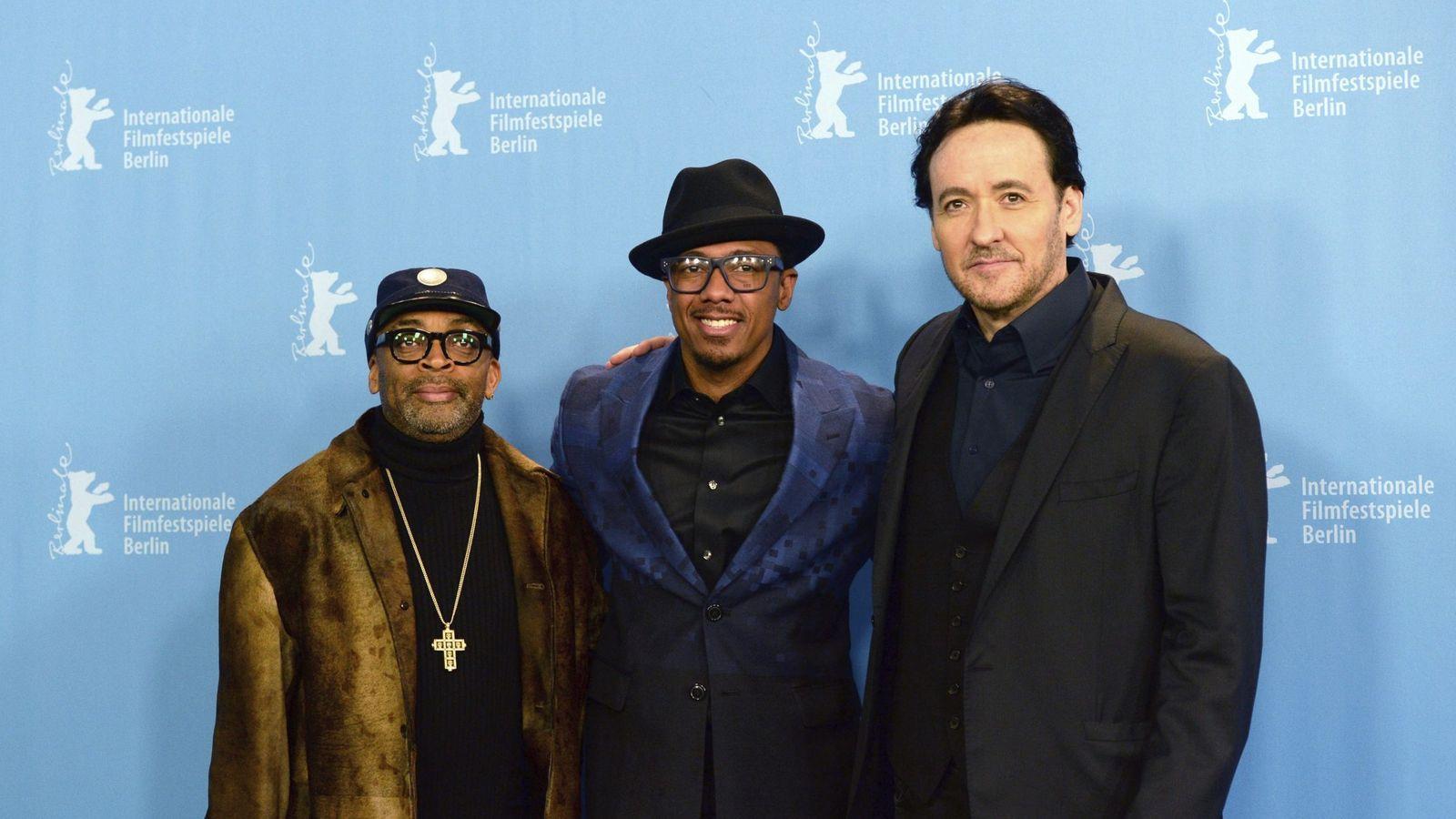 Foto: Lee, Cannon y Cusack en Berlín (EFE)