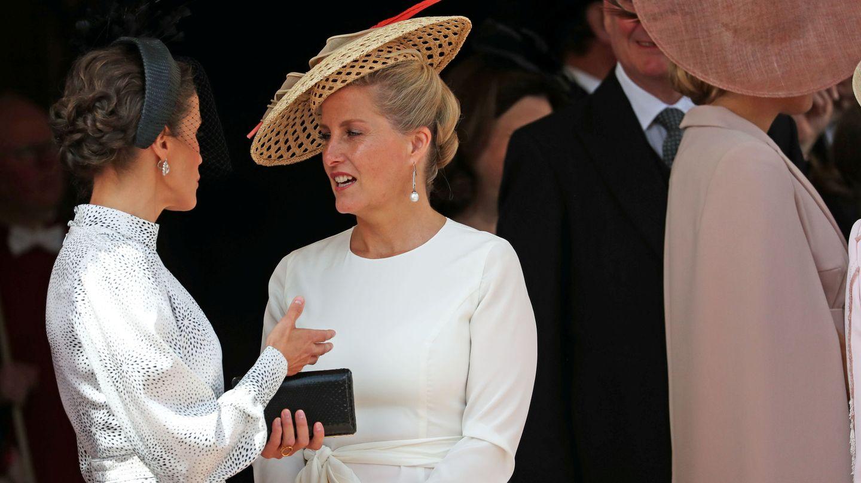 Sophie, con la reina Letizia. (Reuters)