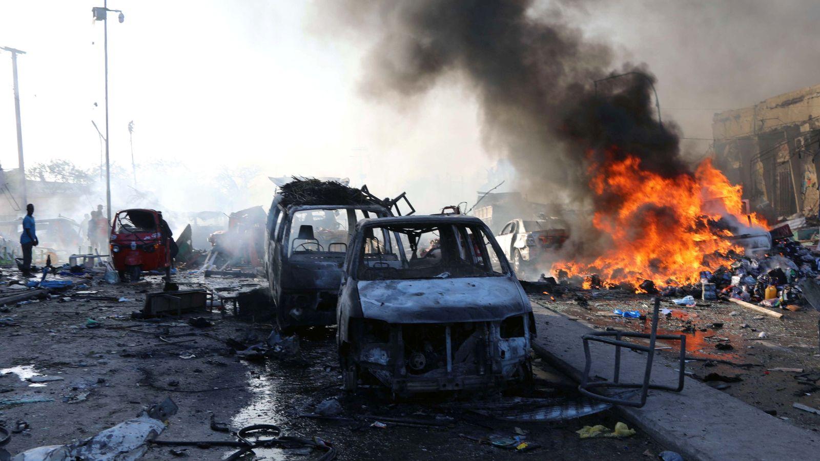 Foto: Vista de la escena donde tuvo lugar la explosión. (Reuters)