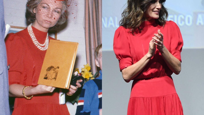 Letizia y Sofía con el mismo vestido. (Getty / Limited Pictures)