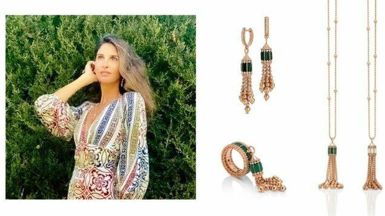 Detalle de las joyas de Roberto Coin que lució Inés Domecq. (Cortesía)