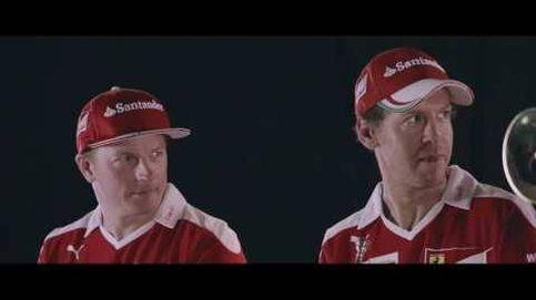 Vettel  y Raikkonen dando la nota
