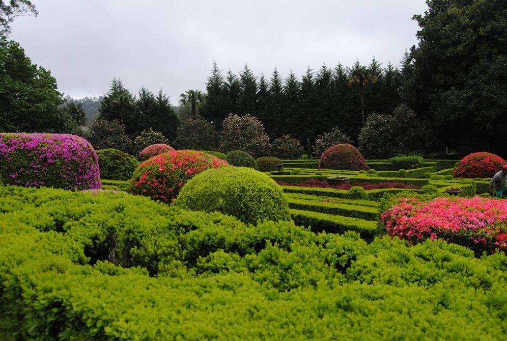 Foto: El jardín del pazo de Rubianes, todo un edén.