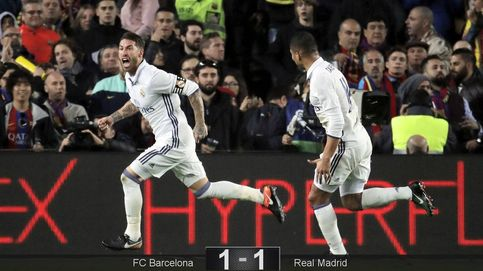 Sergio Ramos añade al Barça a su lista del minuto 90 y mantiene las distancias