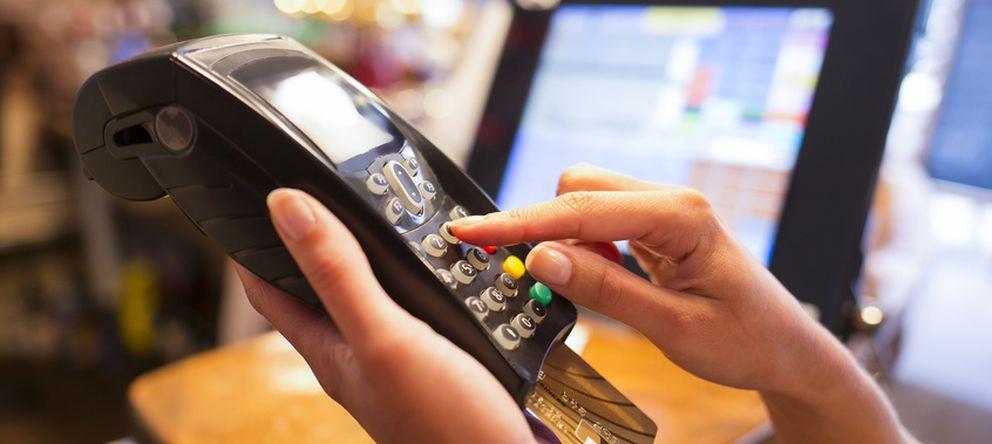 Foto: Pago con tarjeta de crédito.