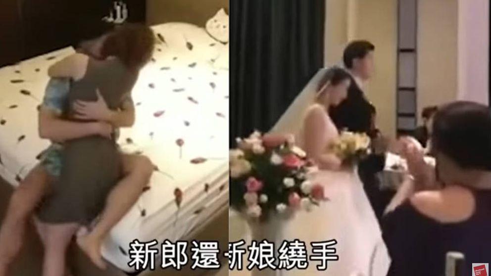 Graba a su novia siendo infiel con su cuñado y pone el vídeo el día de su boda