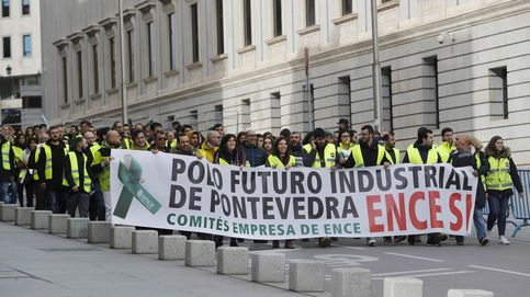 Trabajadores de Ence se encierran en el Ayuntamiento de Pontevedra