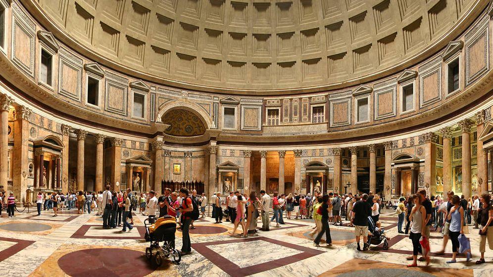 Foto: Imagen del Panteón de Roma en el que se encuentra enterrado Rafael. (CC/Wikimedia Commons)