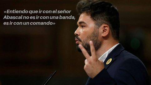 Rufián y sus frases antes de la votación a Sánchez: Aquí un miembro de la banda