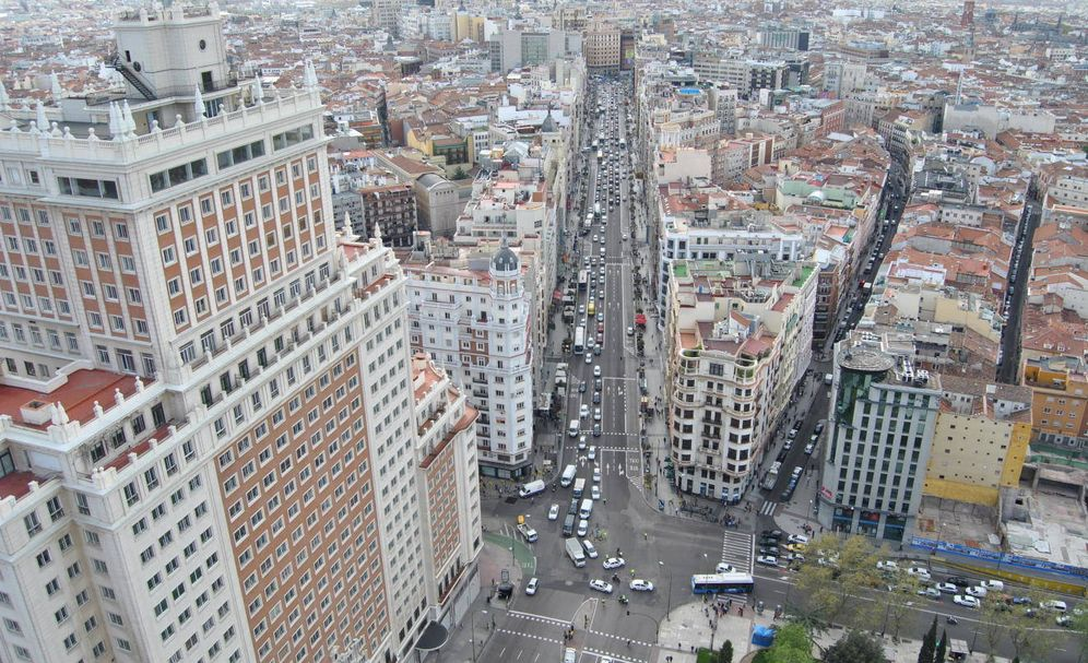 Foto: Vista de la Gran Vía de Madrid. (E. S.)
