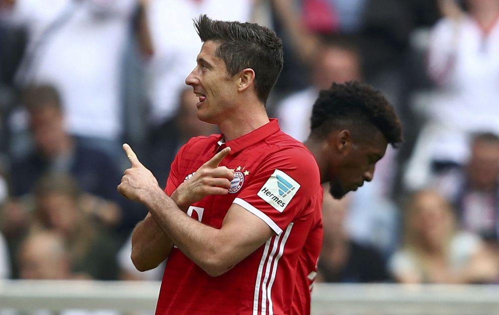 Foto: Robert Lewandowski celebra un gol marcado con el Bayern de Múnich. (Reuters)