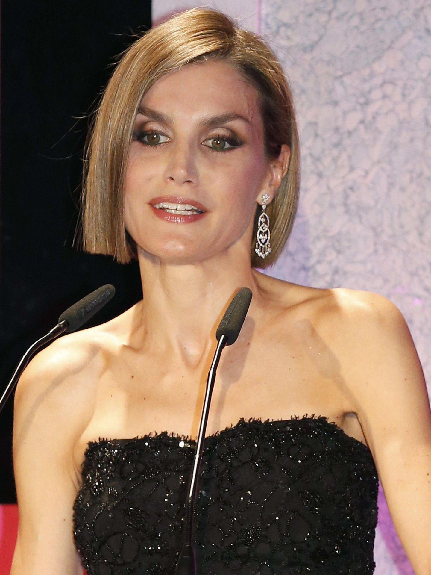 Letizia, durante su discurso en la entrega de premios. (EFE)