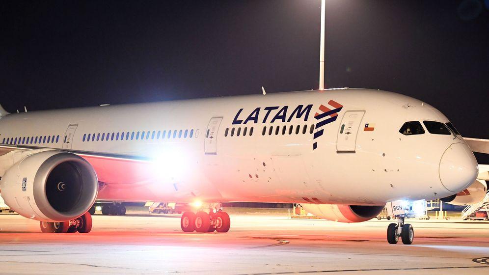 Foto: Un avión de Latam, en Australia. (EFE)