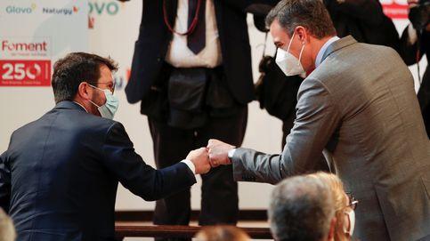 Sánchez promete valentía y generosidad en su primer acto con Aragonès